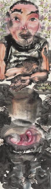 , 'Eaters Series: Wine and Peas 饕客系列:酒一杯豆二两,' 1995, Ink Studio