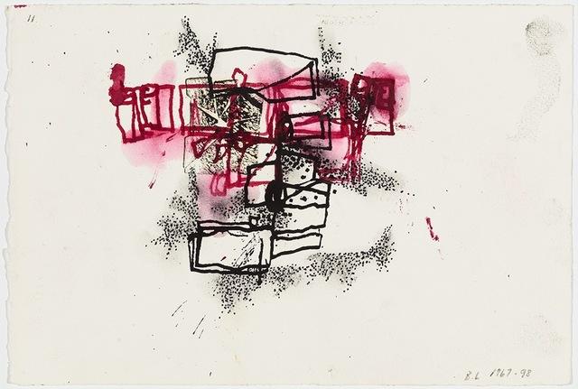 , 'Black & Maroon Felt, Glass (Whitney Variations),' 1967/1998, David Nolan Gallery