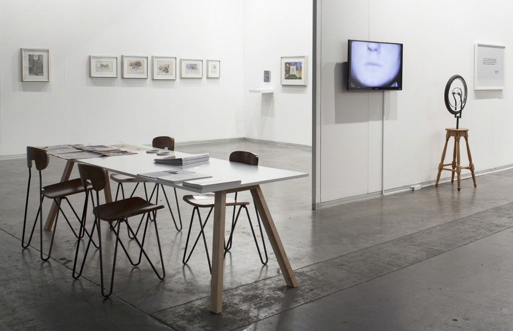 Booth view. Cabinet Antonio Berni and Gallery Booth with pieces of Eduardo Costa.