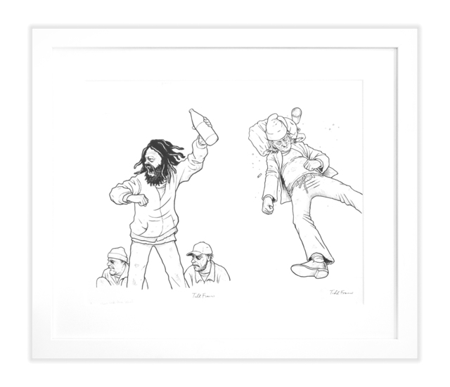 """Todd Francis, '""""VAGRANT ALL STARS"""" PITCHER/ THIRD BASE DRAWING', Subliminal Projects"""