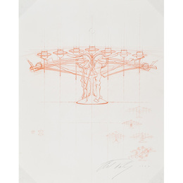 Large drawing for a menorah, Rochester, NY