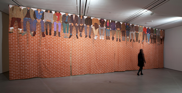 People Sitting On Top Of A Red Brick Wall 2014 Hakgojae