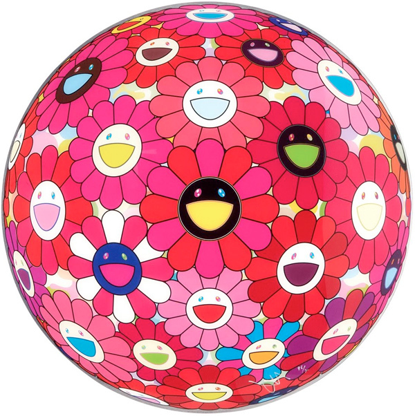 """Takashi Murakami, 'Flower Ball 3D Letter to Picasso (""""Paint it Red"""" project)', 2013, Gallery Delaive"""