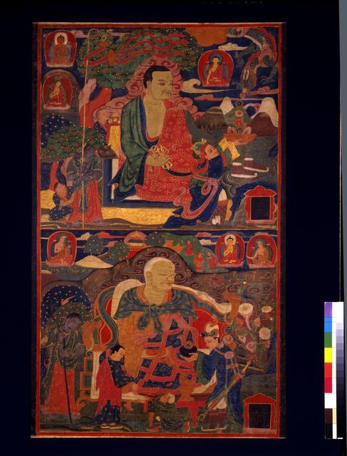 , 'Arhats Pindola Bharadvaja and Chudapanthaka,' 14th century, Newark Museum