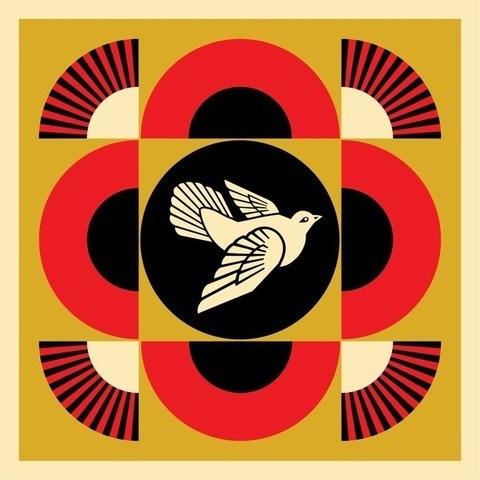 Shepard Fairey (OBEY), 'Peace Dove Geometric (GOLD)', 2017, Perry J. Cohen Foundation Benefit Auction