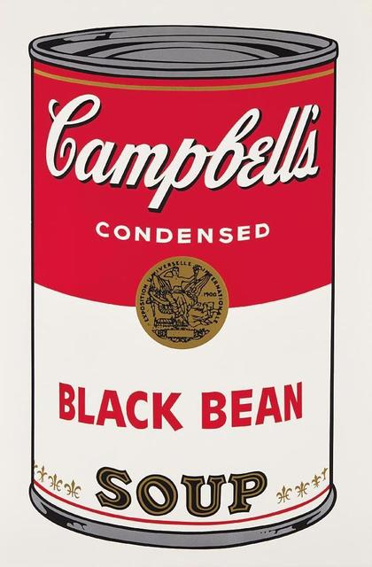 Andy Warhol, 'Black Bean Campbells Soup', 1968, OSME Fine Art
