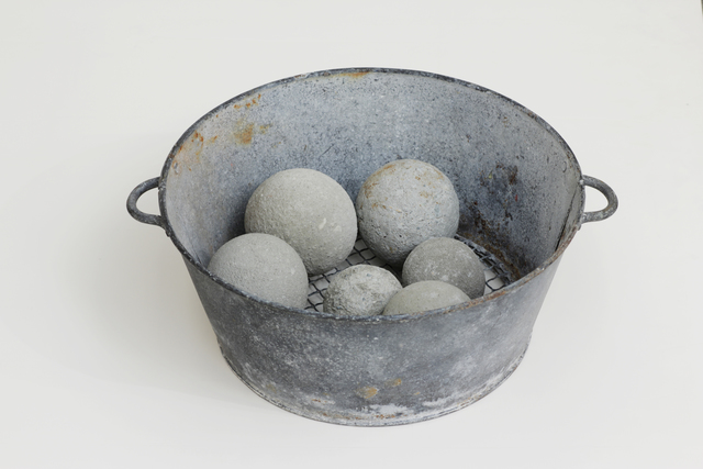 , 'Untitled (Metal Colander with 6 Dumbballs),' , Anglim Gilbert Gallery