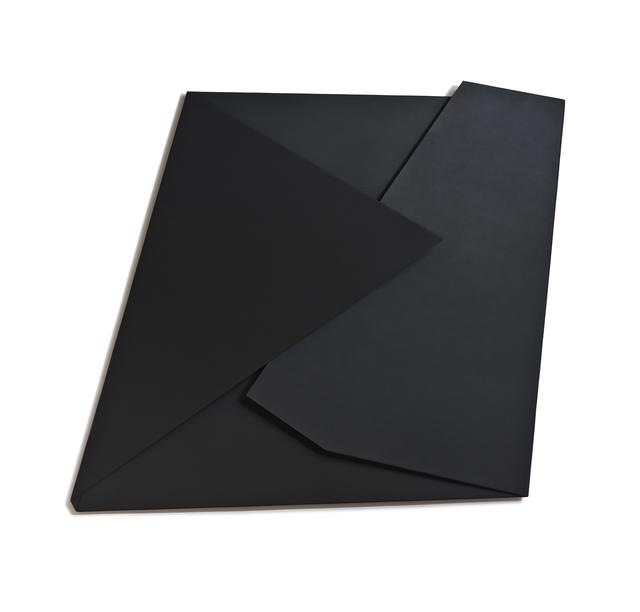 , 'Large Black Folded Flat 01,' 2015, Häusler Contemporary