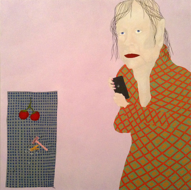 , 'Woman with phone and tomatoes,' 2016, NUNU FINE ART