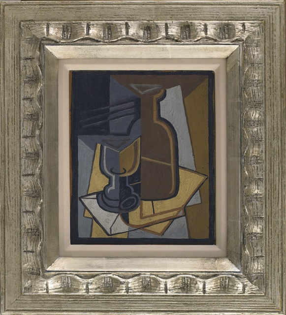 , 'Cubist Still Life with Wine Bottle and Glass,' 1939, Vallarino Fine Art