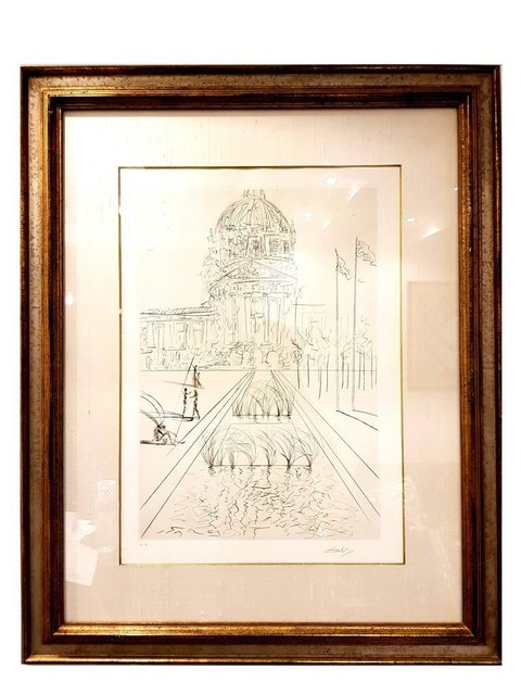"Salvador Dalí, 'Original Etching ""San Francisco - City Hall"" by Salvador Dali', 1970, Galerie Philia"