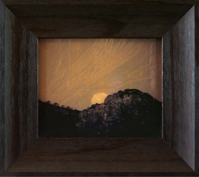 Kate Breakey, 'Full Moon Setting', ca. 2015-2018, Photography, Gold Leaf, Archival Pigment Print, Glass, photo-eye Gallery