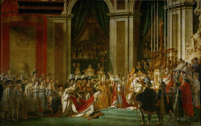 Jacques-Louis David, 'The Consecration of the Emperor Napoleon and the Coronation of Empress Joséphine on December 2, 1804', 1806-07, Painting, Oil on canvas, Musée du Louvre