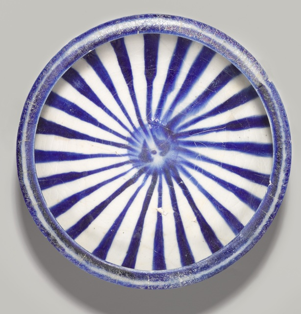 , 'Blue and White Bowl with Radial Design,' 13th century, Dallas Museum of Art
