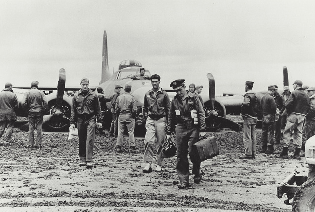 Robert Capa, 'Chelveston, England, Men of the U.S. 301st Bomber Group after a daylight mission', 1942, Elizabeth Houston Gallery