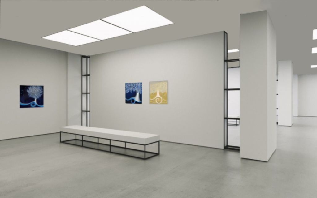 """Gallery View Left to Right: 'Time Here', 'Infinities', """"Light'"""