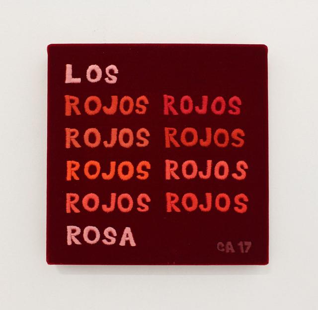 , 'Los rojos,' 2017, MARSO