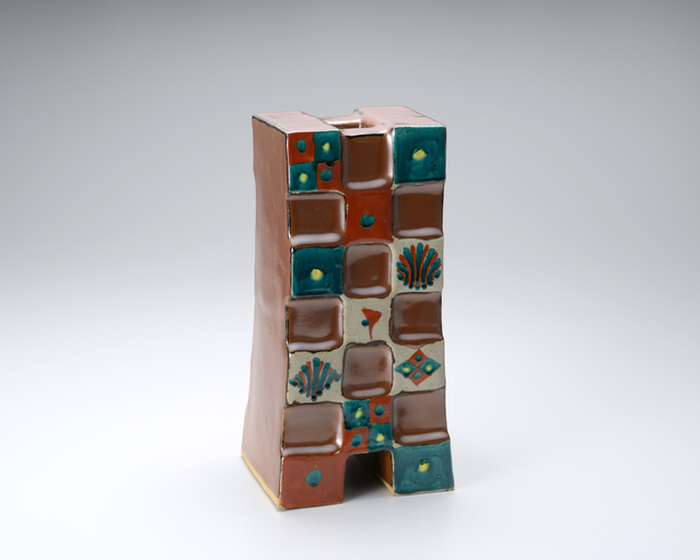 , 'Cube vase, kaki glaze with akae decoration,' 2015, Pucker Gallery