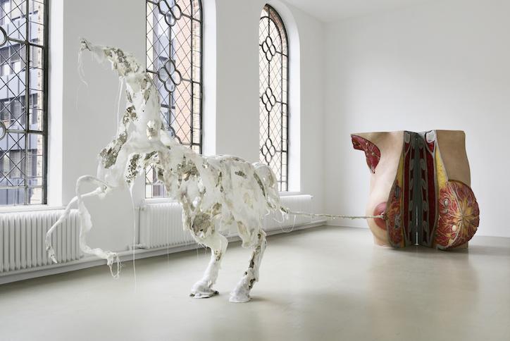Raphaela Vogel installation view at Kunstverein Hannover, 2017 photo: Raimund Zakowski Courtesy of the artist, BQ, Berlin