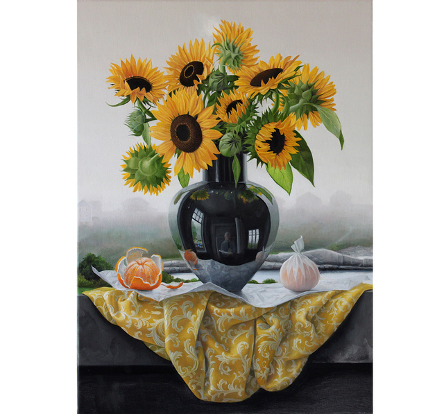 , 'Appledore Sunflowers,' 2014, Clark Gallery