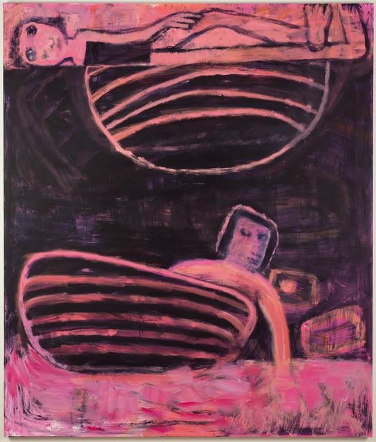 Katherine Bradford, 'Tub Under Planet', 2018, CHOI&LAGER