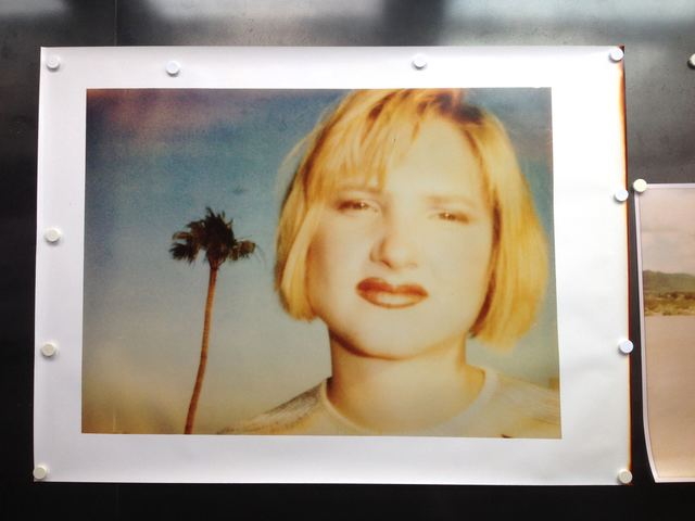 Stefanie Schneider, 'Kirsten Red Lips (California Bluescreen)', 1997, Photography, Analog C-Print, hand-printed by the artist on Fuji Crystal Archive Paper, based on a Polaroid, not mounted, Instantdreams