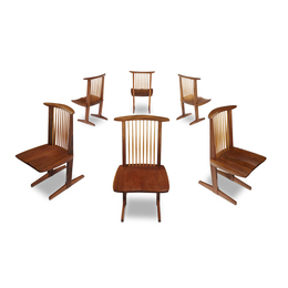 Set of Six Conoid Chairs, New Hope, Pennsylvania