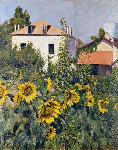, 'Sunflowers, Garden at Petit Gennevilliers,' ca. 1885, Museo Thyssen-Bornemisza