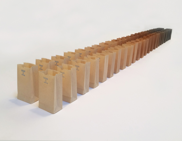 , 'BROWN BAG TEST, AUGUST 15, 2015 PROOF AND COUNTERPROOF,' 2015, Greg Kucera Gallery