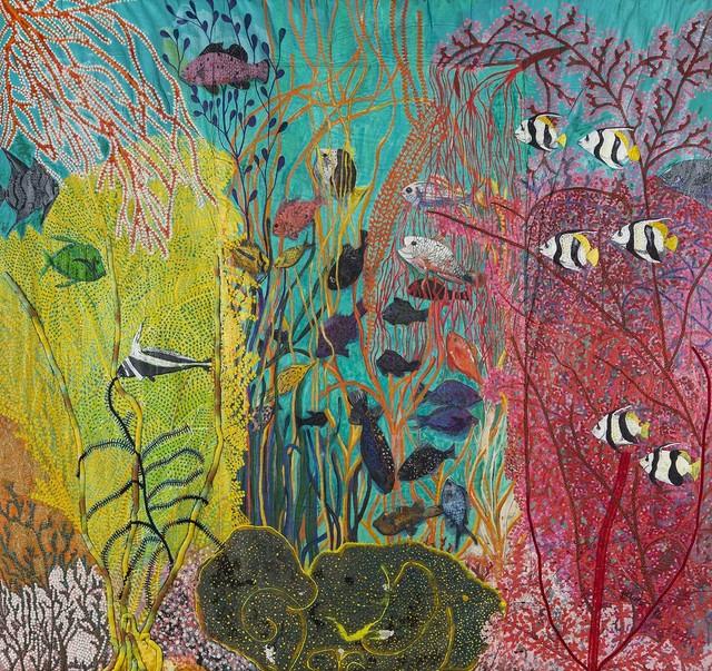 , 'Shallow gardens of Apo Reef,' 1986, Pacita Abad Art Estate