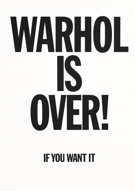 Simon Thompson, 'Warhol Is Over (White)', 2007, Robert Fontaine Gallery