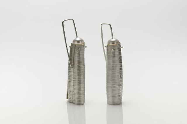, 'Silver Textured Linear Drops Earrings,' 2018, Facèré Jewelry Art Gallery