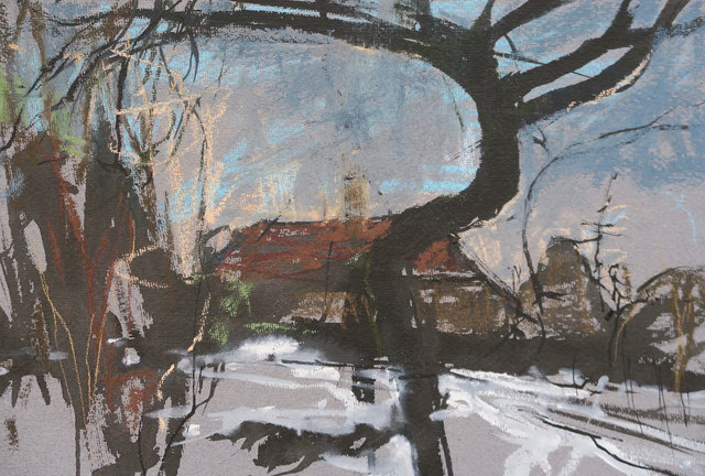 , 'Black Tree and Snow,' , Mall Galleries