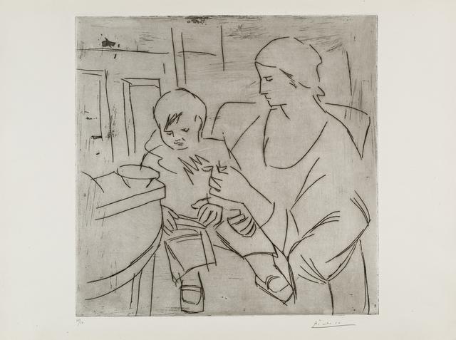 , 'Olga et Paulo: la Soupe (Maternité),' 1922, Frederick Mulder