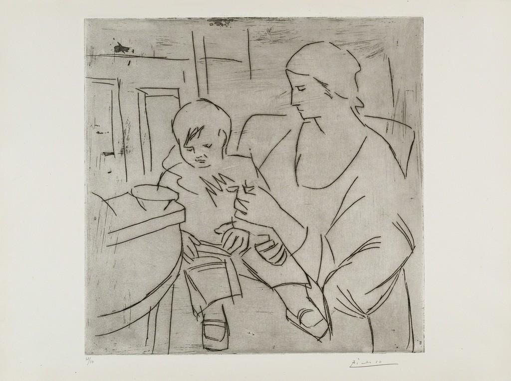 Pablo Picasso | Olga et Paulo: la Soupe (Maternité) (1922) | Artsy