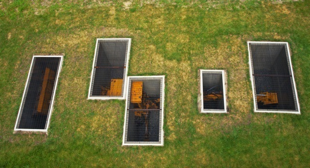 , 'A Proverbial Machine in the Garden (aerial view), Storm King Art Center,' 2013, American Contemporary