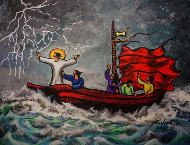 , 'Jesus Calms the Storm 平息風浪,' , Artrue Gallery