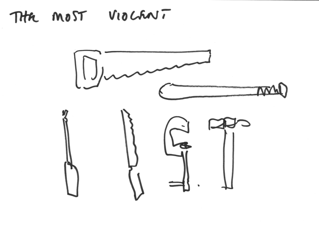 , 'THE MOST VIOLENT - Erdkunde Working drawing,' 2015, Carroll / Fletcher
