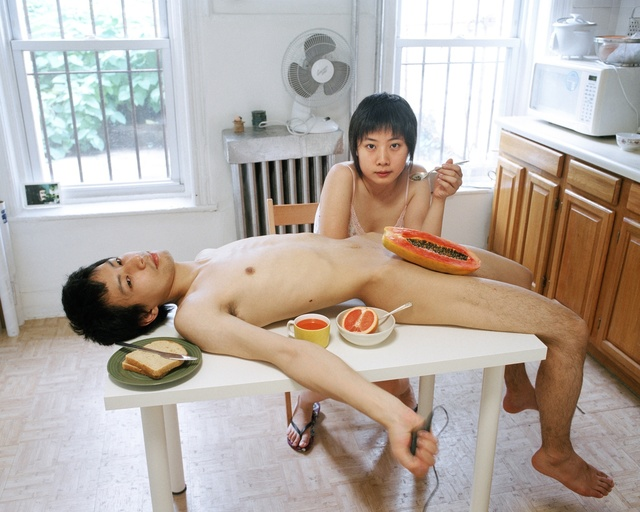, 'Start your day with a good breakfast together,' 2009, Flowers