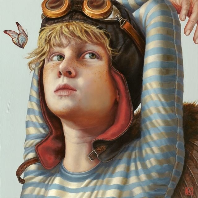 Claudia Giraudo, 'DEPARTURES Young Aviator, Atto I ', 2018, Painting, Oil on canvas, Italian Fine Art Gallery