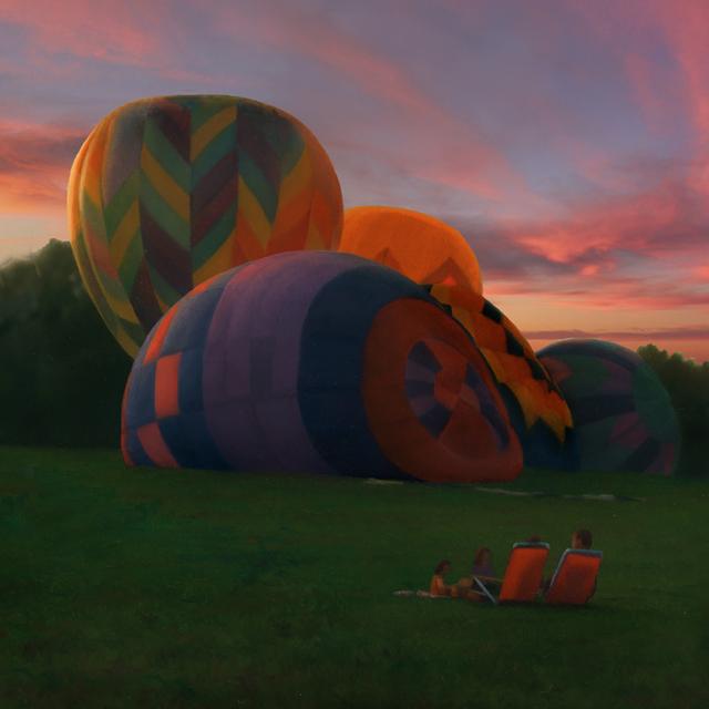 , 'Balloons at Sunset,' 2018, William Baczek Fine Arts