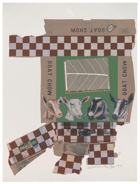 Robert Rauschenberg, 'Goat Chow (Chow Bags)', 1977, Print, Screen print with plastic thread, San Francisco Museum of Modern Art (SFMOMA)