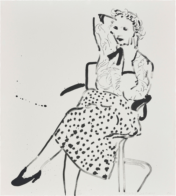 David Hockney, 'Celia in a Polka Dot Skirt', 1980, Phillips