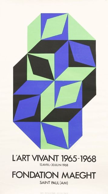 Victor Vasarely, 'L'ART VIVANT POSTER', 1968, Sworders