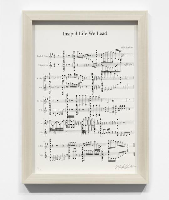 , 'Insipid Life We Lead,' 2018, Lazinc