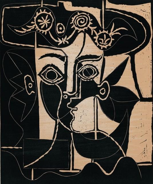 Pablo Picasso, 'Grande Tête de Femme au Chapeau Orné', 1962, Contessa Gallery