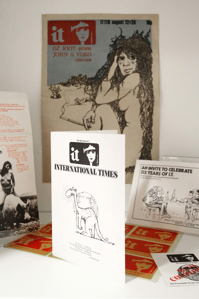 'IT' ephemera including advertising stickers and rates card