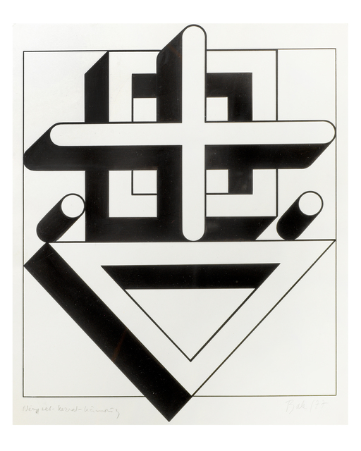 Imre Bak, 'Square-cross-triangle', 1977, The Mayor Gallery