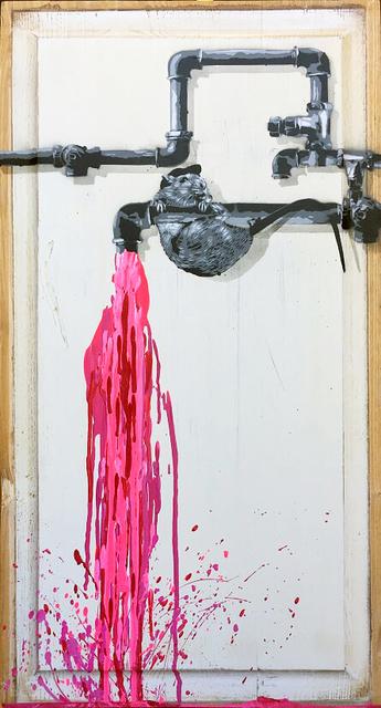 , 'Pipe Leak (Pink),' 2018, NextStreet Gallery