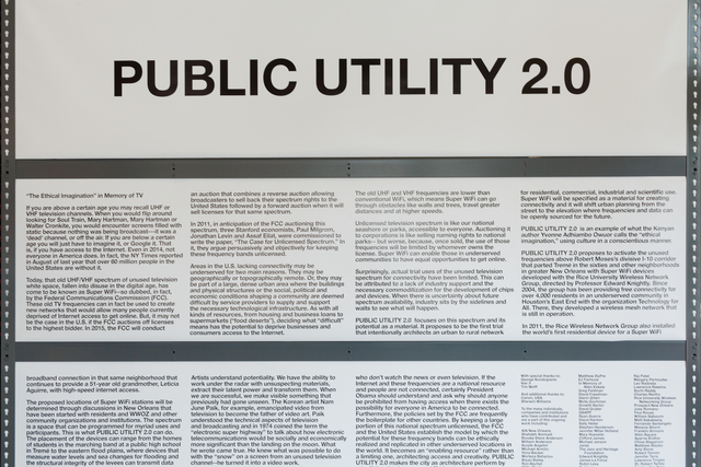 , 'Preparations for Public Utility 2.0,' 2014, Prospect New Orleans